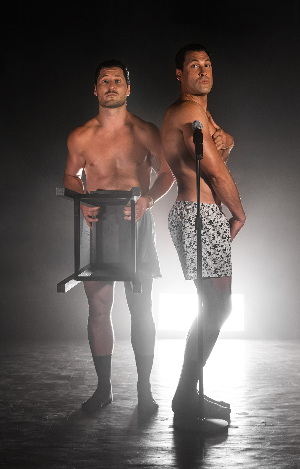 maks & val stripped down tour in boxers